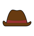 cowboy hat isolated icon vector image