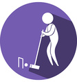 Croquet icon on blue badge vector image vector image