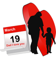Dad today is your feast vector image vector image