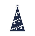 decorated christmas tree icon vector image vector image