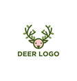 deer logo designs vector image