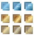 different types of processors vector image vector image