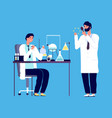 doctor and chemical researcher epidemiology vector image vector image