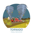 drawing image the destructive tornado vector image vector image