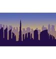Dubai of silhouette vector image vector image
