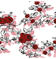floral seamless rose shadow vector image vector image