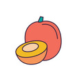 fruit icon cartoon style vector image