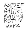 fun hand drawn font collection vector image
