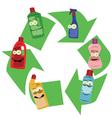 Funny Plastic Bottles vector image