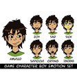 game character boy emotions set vector image vector image
