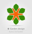 Garden design business icon vector image vector image