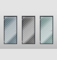glass office doors modern interior transparent vector image vector image