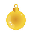 gold circle ball decoration to christmas design vector image