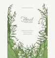 gorgeous vertical natural background with vector image vector image