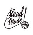 handmade tailors service monochrome promo emblem vector image