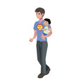 happy father day family vector image