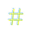 hashtag icon social network internet app vector image