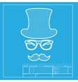 Hipster accessories design White section of icon vector image vector image