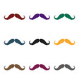 hipster mustache icon in black style isolated on vector image