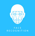 icon identity biometric verification sign face vector image