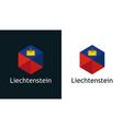 icon liechtenstein flag on black and white vector image vector image