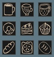 Icons of kitchen items vector image vector image