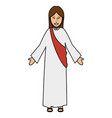 jesuscrist avatar character icon vector image vector image