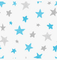 kids pattern with doodle textured stars vector image