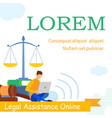 lawyer school law practice web banner template vector image vector image
