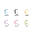 logo template Abstract circle shape and vector image vector image