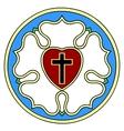 Lutheran rose emblem vector image vector image