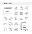 marketing hand drawn icon set style isolated on vector image vector image