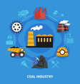 mining industry concept vector image vector image
