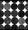 monochrome textured circle shapes seamless vector image vector image