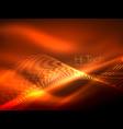 neon smoke waves vector image