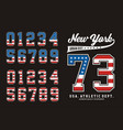 new york set number american vector image vector image