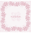 Ornate rose card vector image vector image