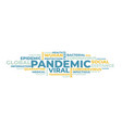 pandemic word cloud isolated vector image