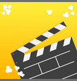 popcorn open clapper board from top down vector image