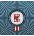 Presidents Day Sale USA Label with Ribbon vector image