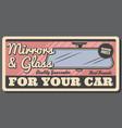 rear view retro mirror vehicle interior accessory vector image
