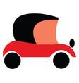 red and black old vintage motor car or color vector image