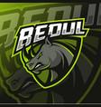 rhino mascot logo esport vector image