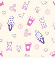 seamless office pattern doodle vector image vector image