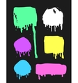 Set of hand drawn paint object for design use vector image vector image