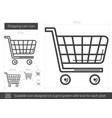 shopping cart line icon vector image