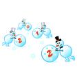 snowmen 2012 vector image vector image