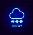 snowy neon label vector image vector image