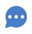 speech bubble with text icon vector image