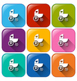 Stroller icons vector image